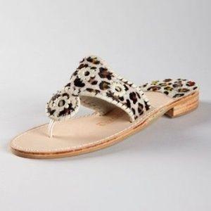 Jack Rogers Leopard Print Sandals
